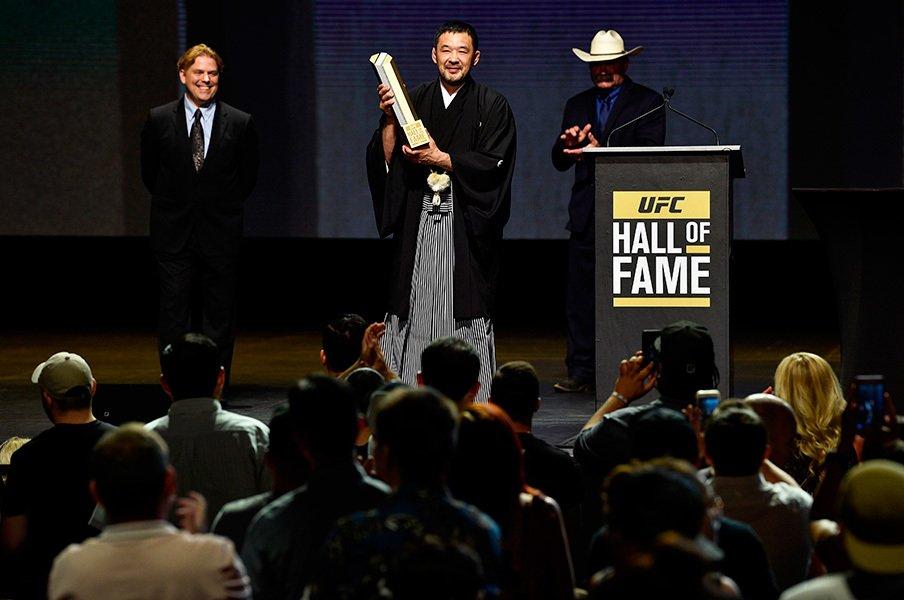 桜庭和志は、プロレスファンの光だ。アジア初のUFC殿堂入りが誇らしい。<Number Web> photograph by Getty Images