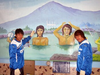 川崎フロンターレ名物部長が企てた、漫画『テルマエ・ロマエ』とのコラボ。<Number Web> photograph by KAWASAKI  Frontale