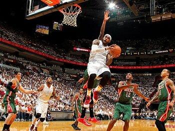 """27連勝の歴史的価値。~NBA・ヒートの""""段違いの強さ""""~<Number Web> photograph by NBAE/Getty Images"""