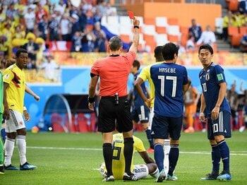 ワールドカップと最短退場者。C・サンチェスは史上2番目だった。<Number Web> photograph by Asami Enomoto