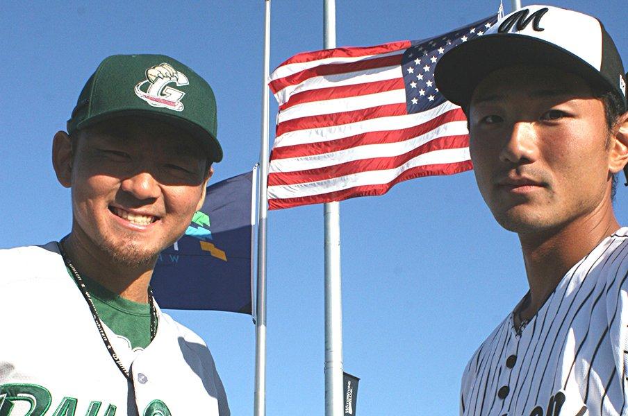 「マイナーを目指す」2人の日本人。高校で芽が出ず、アメリカに渡って。<Number Web> photograph by Katsushi Nagao