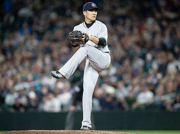 田中将大、10月の大一番で先発か。ヤンキースのエースとして信頼度大。<Number Web> photograph by Getty Images