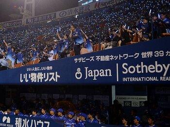 DeNA3万人、ももクロ6万人。週末の横浜で交錯した2つの星。<Number Web> photograph by NIKKAN SPORTS