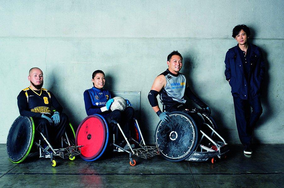 新しい地図・稲垣吾郎×車いすラグビー。日本代表選手が語る、戦略と言霊。<Number Web> photograph by Asami Enomoto