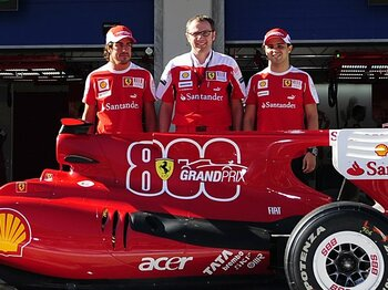 GP800戦目の優勝を逃したフェラーリ。期待外れのアロンソに早くも三行半!?<Number Web> photograph by Hiroshi Kaneko