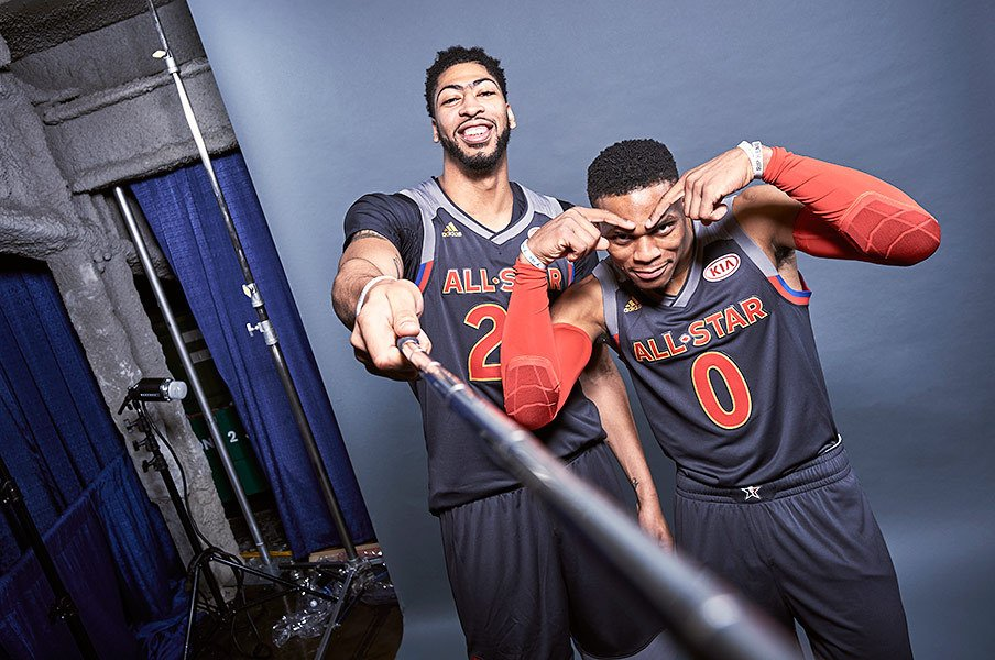 NBAはスポーツのジャンルを超えて。大物達が集まるオールスターの内幕。<Number Web> photograph by Jennifer Pottheiser/NBAE via Getty Image