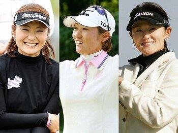 <今シーズンの新潮流> 女子ゴルフ、成熟の証明。~北田瑠衣、飯島茜、藤田幸希の飛躍~<Number Web> photograph by KYODO/Shiro Miyake