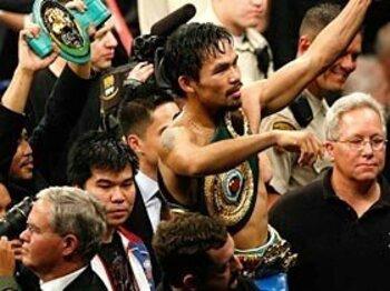 アメリカの英雄となったパッキャオの次なる目標。~フィリピン人ボクサーの王~<Number Web> photograph by Getty Images