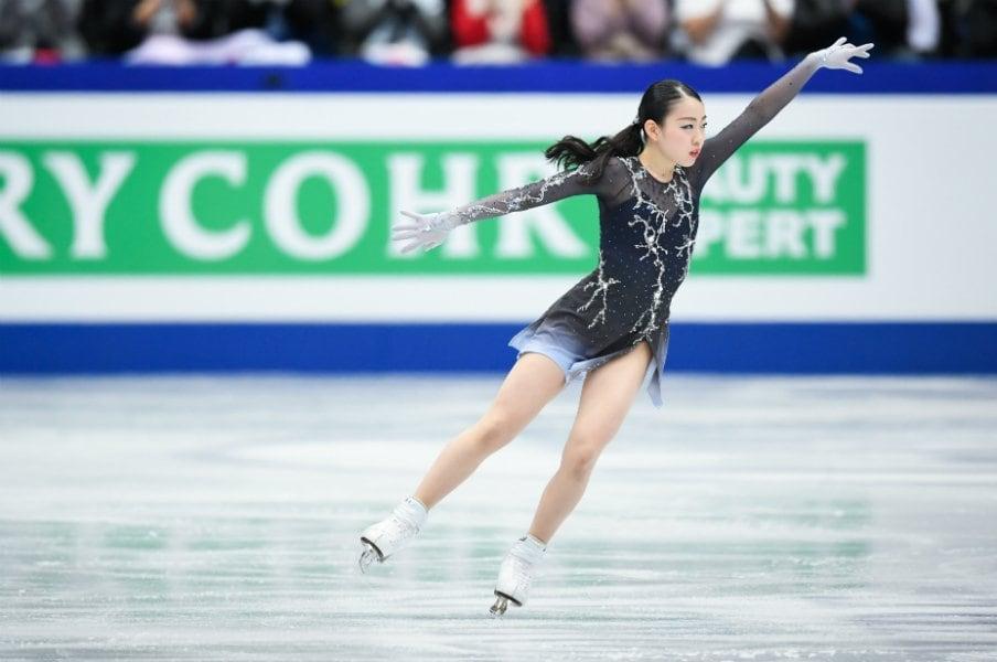 フィギュア女子、日本人は表彰台逃す。4位・紀平梨花「目標はもっと高い所に」<Number Web> photograph by Asami Enomoto