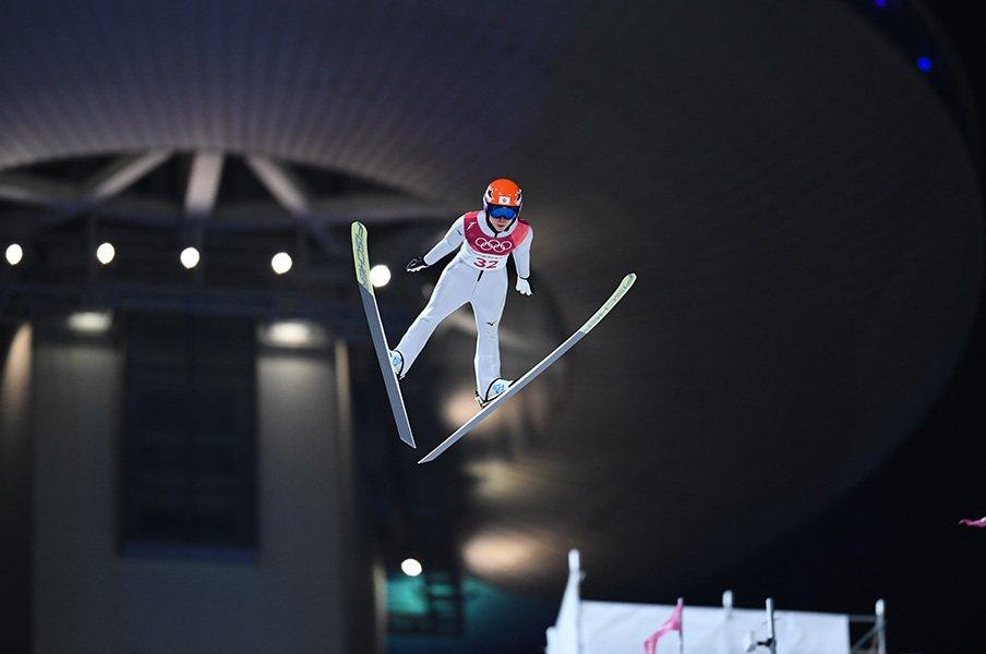 追い風の不運もあったが、伊藤は粘り強いジャンプを見せた / photograph by Asami Enomoto/JMPA