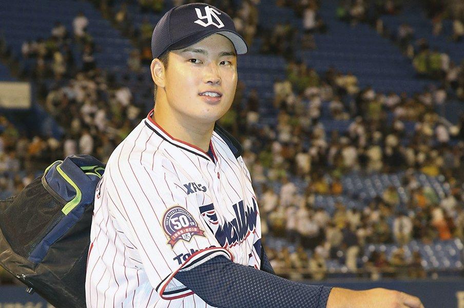 """村上宗隆の36本塁打と184三振。プロで本塁打を""""普通に""""打つ男。<Number Web> photograph by Kyodo News"""