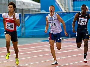世界大会男子初の金メダル獲得!日本短距離界の超新星、飯塚翔太。