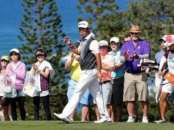 2017年初戦から優勝争いを演じた松山。近い将来、女子ゴルファーとともにこの大会に臨む姿が見られるのかもしれない。