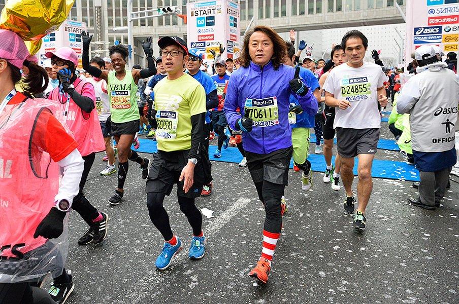 北澤豪 「46歳、東京を走る」 ~東京マラソン2015レポート~<Number Web> photograph by Yoji Kamaya