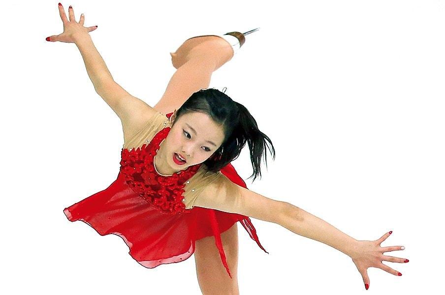 優勝したジュニアGPクロアチア杯FSでの本田真凜。兄・太一と2人の妹・望結と紗来もフィギュアスケーター。