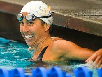 競泳女子に15年ぶり復帰、39歳エバンスの信じる力。<Number Web> photograph by AFLO