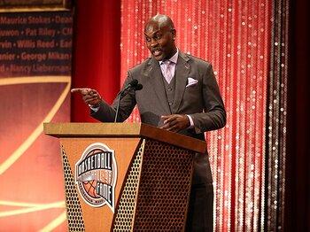 """""""有言実行""""で殿堂入り。ペイトンが次に望むもの。~NBAを沸かせた口達者の夢~<Number Web> photograph by Getty Images"""