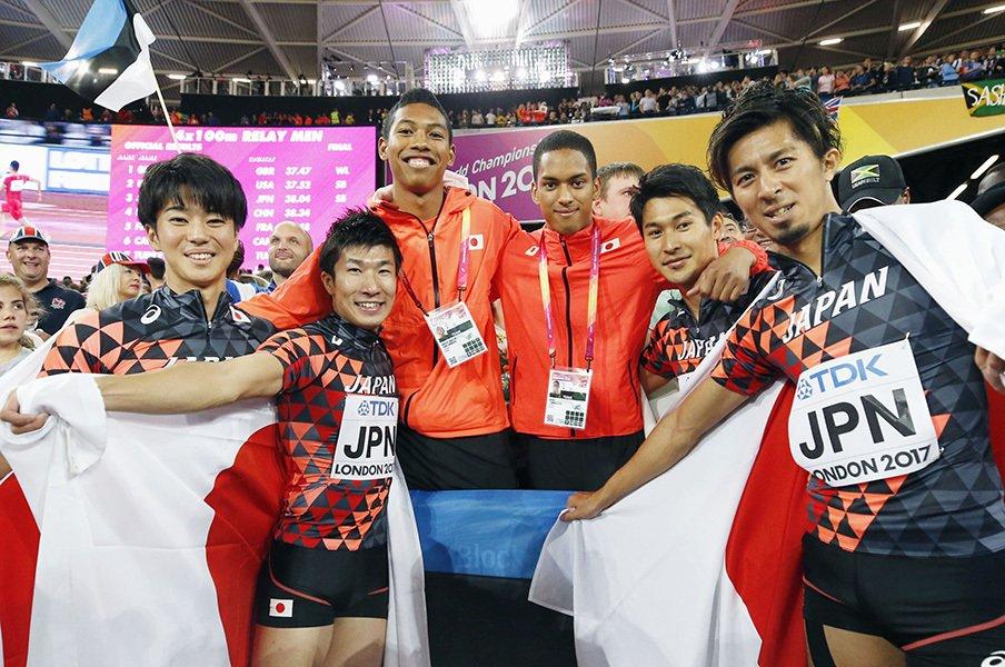 """""""レジェンド""""朝原宣治が語る世陸。「リレーの選手交代」の功績について。<Number Web> photograph by Kyodo News"""
