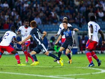 日本はハイチに恥をかかされた。スタメン組の実力を再確認した試合。<Number Web> photograph by Kiichi Matsumoto
