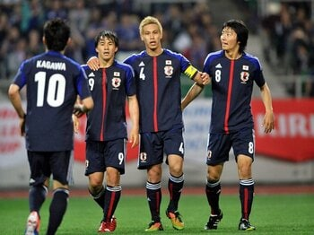 "W杯最終予選直前に改めて認識した、9カ月ぶり復帰の""本田効果""とは?<Number Web> photograph by Miki Fukano"