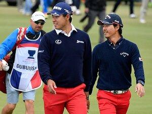 松山英樹が石川遼に「行っちゃえ!」。2人がゴルフ少年に戻っていた4日間。