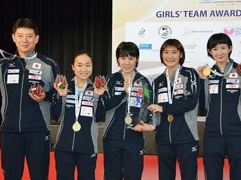 18歳以下世界ランクでトップ5独占!卓球女子は伊藤、平野以外も充実。<Number Web> photograph by Kyodo News