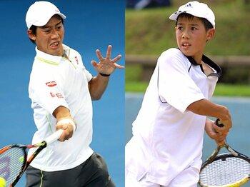 錦織圭、歴代のラケットを徹底検証!プロ転向から2015年全豪OPまで。<Number Web> photograph by Action Images/AFLO(L),Tennis Classic Break(R)