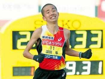 遅咲きの28歳が見せた快走。東京五輪へ園田はまだ成長する。~男子マラソンを若手の独壇場にはしない!~<Number Web> photograph by KYODO