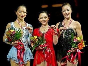 ロシアのトゥクタミシェワとソトニコワ。フィギュア界に五輪金メダル候補現る。<Number Web> photograph by AP/AFLO