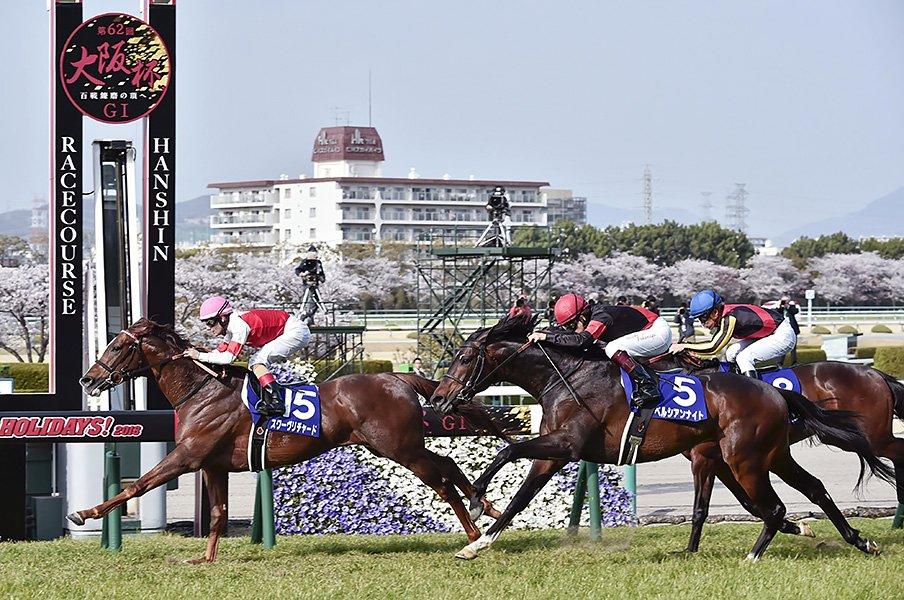 大阪杯を支配したミルコ・マジック。圧倒的な道中のポジション取り技術。<Number Web> photograph by Kyodo News