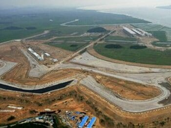 開催1カ月前でサーキットが未完成!?強行開催濃厚も不安募るF1韓国GP。<Number Web> photograph by Yonhap/AFLO