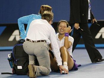 準優勝でもひと際光った、李娜の笑顔とユーモア。~テニス全豪、もう一人のウィナー~<Number Web> photograph by Hiromasa Mano