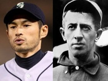 短いバットと200本安打。~イチローは100年前にもいた!?~<Number Web> photograph by Stephen Dunn/Getty Images|National Baseball Hall of Fame Library/MLB Photos via Getty Images