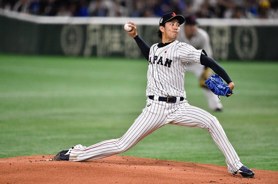 岸孝之と上沢直之がMLBを翻弄。カーブの有効性と五輪での使用球。<Number Web> photograph by Nanae Suzuki