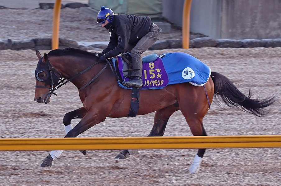 大阪杯に池江泰寿厩舎の馬が4頭。大将格はサトノダイヤモンドか。<Number Web> photograph by Yuji Takahashi
