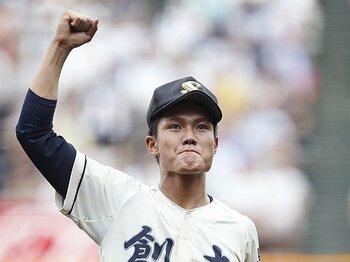 熊野で再会した創志学園・西純矢。投球術と変わらぬ野球小僧っぷり。<Number Web> photograph by Kyodo News
