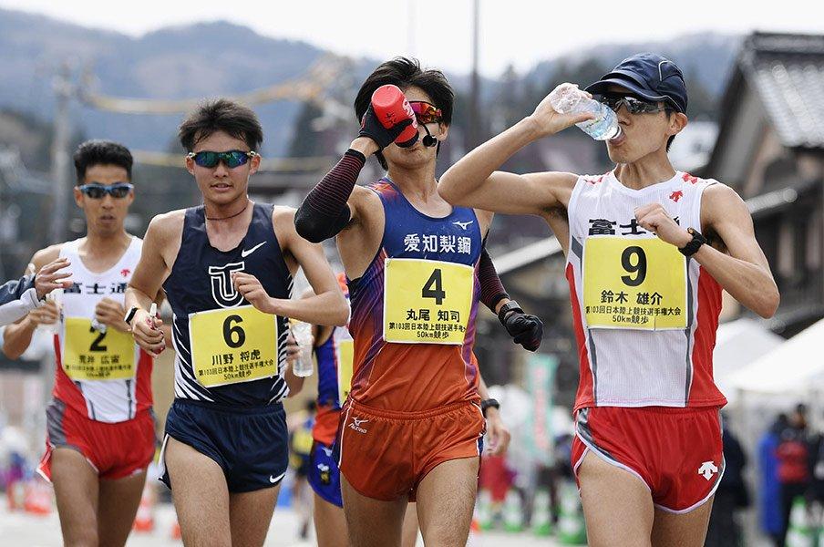 競歩50kmは、東京五輪が「最後」。ひしめく日本の有力選手たちは……。<Number Web> photograph by Kyodo News