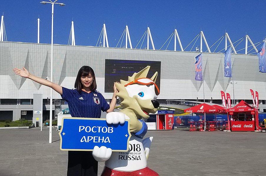 フジ・鈴木唯アナのW杯取材秘話。ロシア人記者の「私も応援していた」。<Number Web> photograph by Yui Suzuki