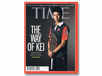『TIME』誌の表紙で世界的スターへ。全豪で錦織を待ち受ける強敵と栄光。<Number Web> photograph by Sports Graphic Number