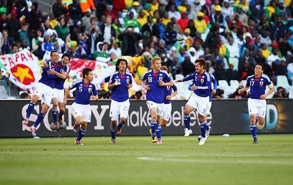 日本代表イレブンの歓喜
