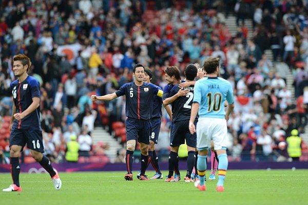 スペインに勝利し、喜ぶ日本イレブン~ロンドン五輪2012~