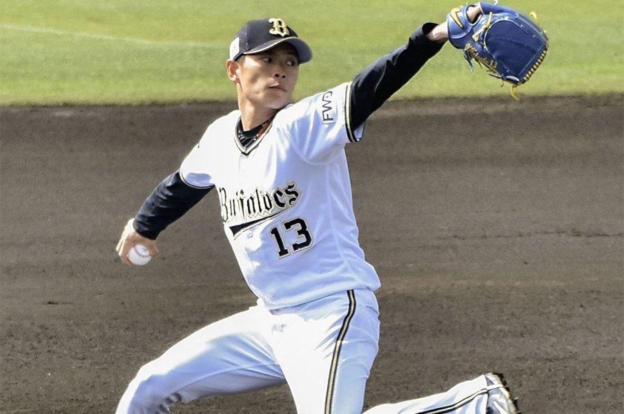 オリ山岡、新球フォークを解禁。究極のエースは「24連勝のマー君」。<Number Web> photograph by Kyodo News
