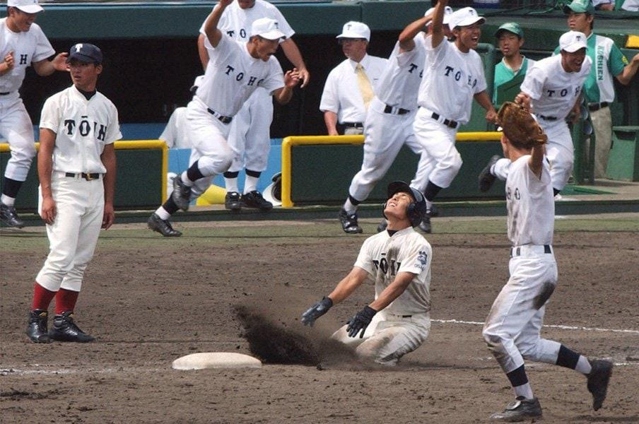 大阪桐蔭、夏の甲子園初黒星。二重の屈辱が名将・西谷浩一を生んだ。<Number Web> photograph by Kyodo News