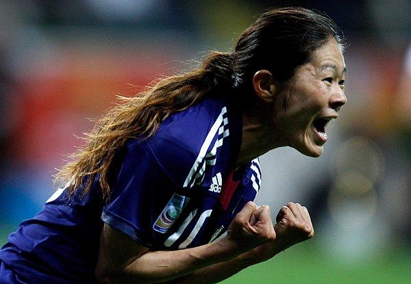 サッカー女子W杯2011決勝、同点ゴールを挙げた澤穂希