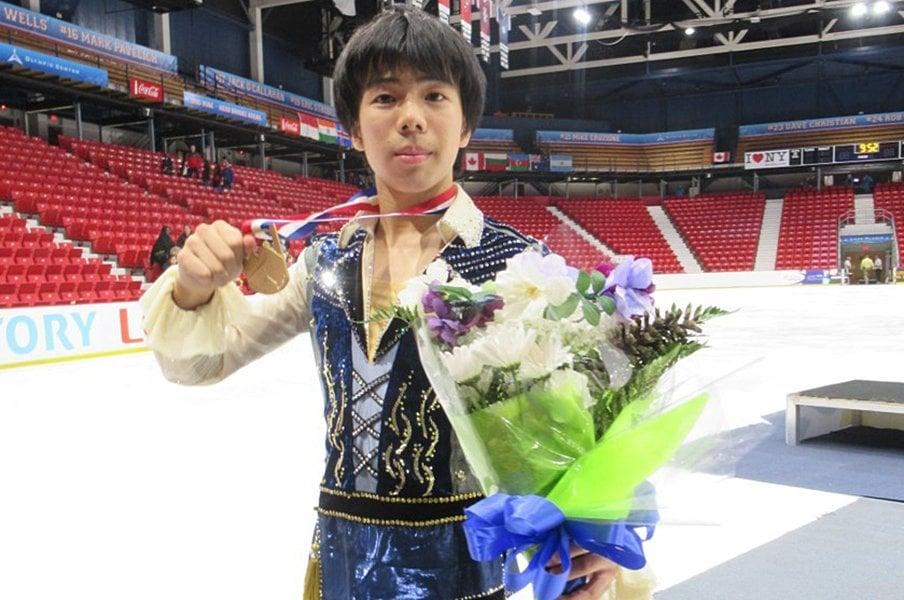 前年のファイナル王者に勝利!ジュニアGP初優勝・佐藤駿。<Number Web> photograph by Akiko Tamura