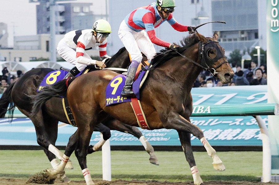 2週連続で武豊戴冠の可能性は大!砂の王者最右翼はアウォーディー。<Number Web> photograph by Kyodo News