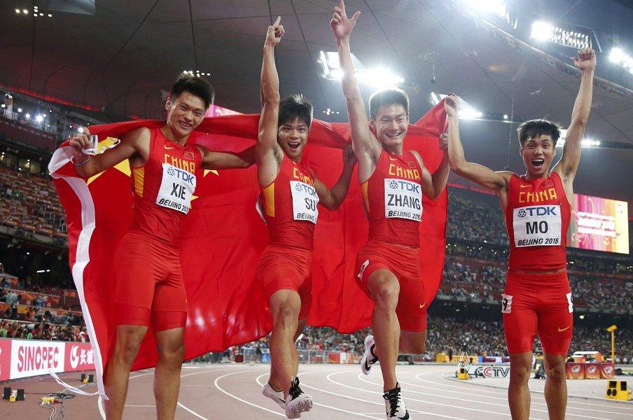 """日本が失った""""アジアNo.1""""の座。男子4×100mに何が起こったのか。<Number Web> photograph by AFLO"""