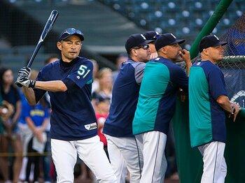 日本での開幕戦でスタメンが濃厚。イチローの「その後」が楽しみだ。<Number Web> photograph by Getty Images