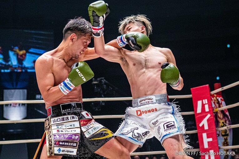 RIZINに乗り込んで戦った那須川天心との一戦。最終ラウンドまで倒れることはなかったが、判定で敗れた / photograph by