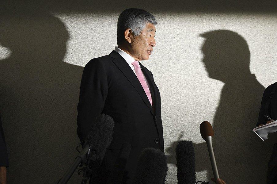 日大アメフト反則問題の核心とは。「誰も監督に説明を強制できない」<Number Web> photograph by Kyodo News